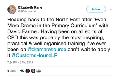 Developing Drama in the Primary Curriculum, 26 September