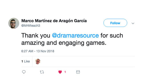 #dramagames Follow @dramaresource